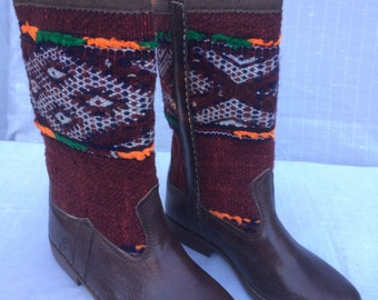 Handcrafted kilim boots