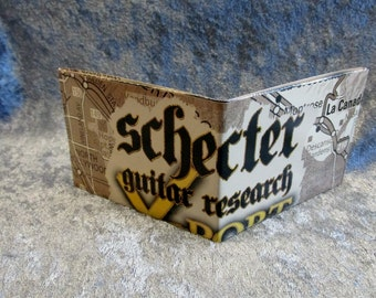 SALE Schecter Guitars Wallet DIY Upcycled Catalogue #1