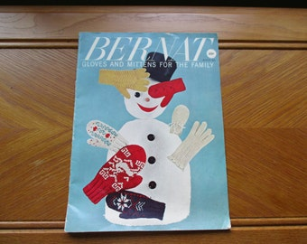 Bernat Gloves and Mitten for the Family 1959