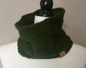 Forrest Green Polka Dot Cowl