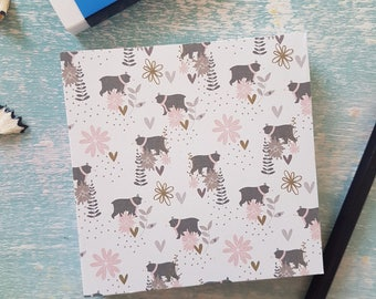 Patterned Memo Pad