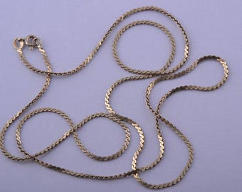 10ct Yellow Gold Link Chain (641l)