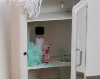 Shabby chic armoire etsy - Armoire de toilette vintage ...