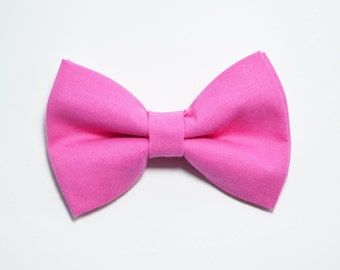 Candy Pink bow tie/ Hot Pink Bow Tie, boys bow tie,baby bow tie,adult bow tie,groomsmen bow tie, pink bow tie