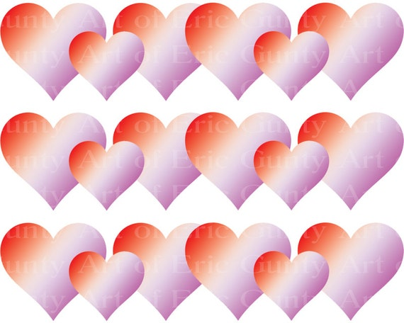 Valentine's Day Hearts - Birthday Background - Designer Strips - Edible Cake Side Toppers- Decorate The Sides of Your Cake! - D22129