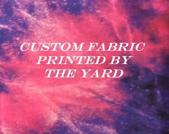 Custom Printed Fabric By The Yard. Design Your Own Fabric!