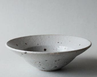 clear glazed speckled rimmed small bowl (kohiki)
