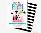 Pool Party Invitation | Printable Digital Pool Party Invite | Tropical Birthday Invitation | Pineapple Party - 5X7 with *bonus reverse side""