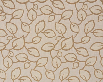 Beige And Brown Large Scale Leaves Upholstery Fabric By The Yard | Pattern # B0000E