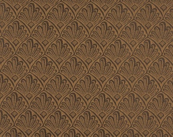Brown Two Toned Fan Upholstery Fabric By The Yard   Pattern # A124