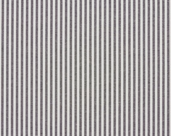 Black And White Ticking Stripes Cotton Heavy Duty Upholstery Fabric By The Yard | Pattern # A566