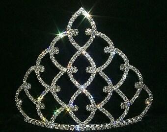"5"" Traditional Rhinestone Crown - Gold #11186G"