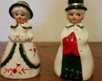 Vintage Christmas Carolers Bells
