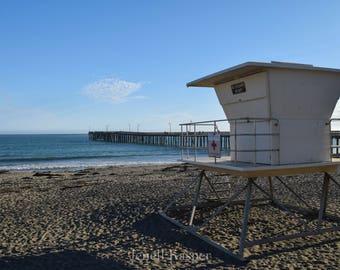 Lifeguard, California Coast, Pier, Pacific Ocean Photo