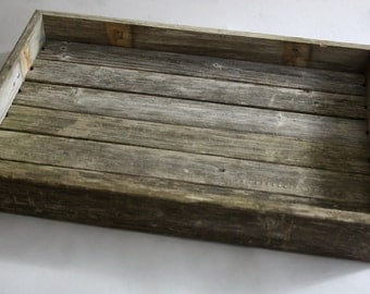 Rustic barnwood decorative tray
