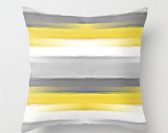 outdoor cushion patio throw pillows yellow grey throw pillow home decor - Grey Throw Pillows