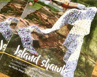 THE ISLAND SHAWLS book - a collection of 8 crochet shawls for all levels of experience