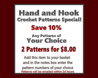 Buy any Two Crochet Patterns And Save - Your Choice Of Crochet Patterns