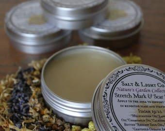 Stretch Mark & Scar Salve/Helichrysum/Calendula/Rosehip Seed