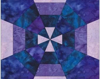 Spiderweb Maltese 4 - 10 Inch Paper Piece Foundation Quilting Block Pattern PDF