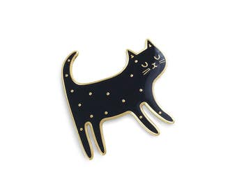 """Brooch """"Black cat"""""""