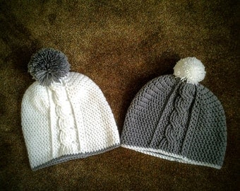 Vertical Cable Hat - Beanie / Vertical Cable Hat Slouchy