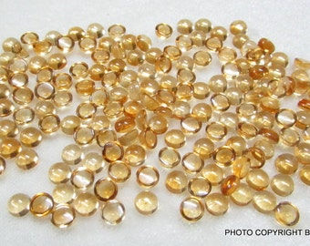5 mm (25 pcs) Natural Golden CITRINE Round cabochon gemstone.....