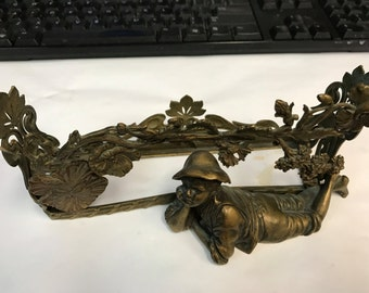 Bronze Figural Letter Holder or Picture Stand