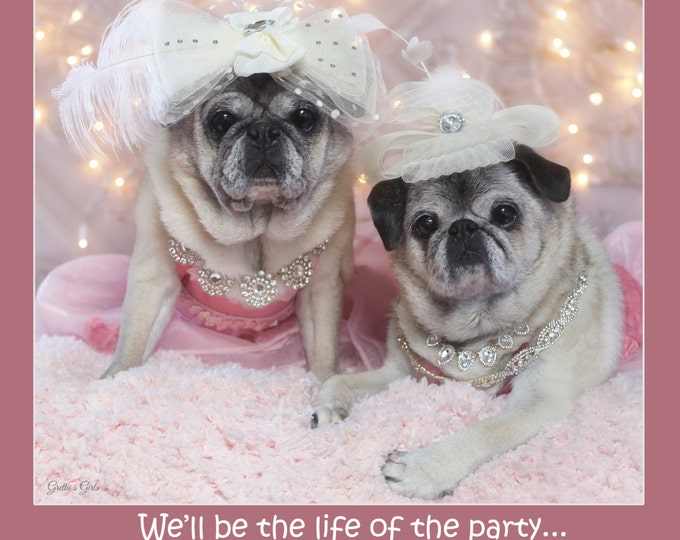 PACK of 5 - 2017 Wall Calendar - Pug Calendars by Gretta's Girls and Pug and Kisses