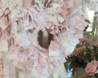 RAPetite Rose Fabric Heart Wreath