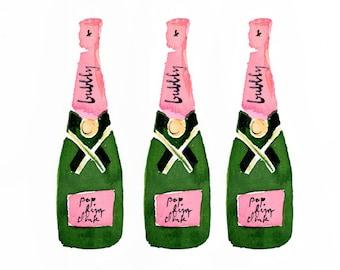 Bar Cart Art: Champagne Trio