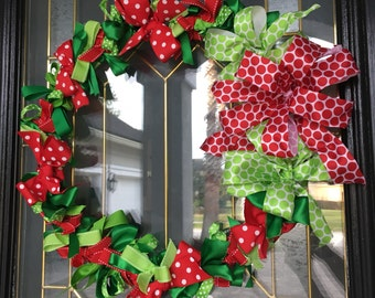 Christmas/Holiday Ribbon wreath
