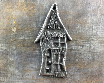 Pendant, Handcrafted, Hobbit House, Handmade Jewelry Making Craft Supplies No. 523PD