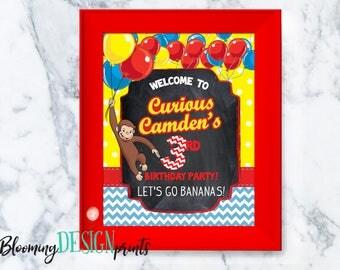 PRINTABLE Curious George Birthday Sign