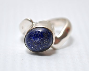 Sterling Silver Lapis Ring Sz 6 #6266
