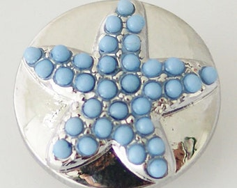 KB6295  Blue Beaded Star Set in Silver Plate