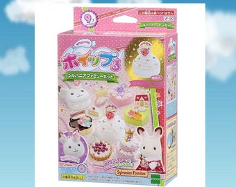 Whipple,Sylvanian Families,Japanse Deco Sweets kit,DIY,Fake Sweets,Making toy,GIRL'S gift,Birthday present,Epoch