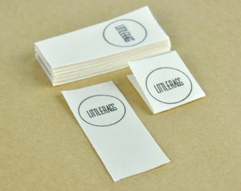 10pcs  fabric labels / 2.5cm width /  custom design / natural cotton tape / t-shirt label / with Direct full-color printing