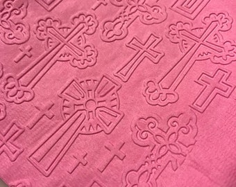 Cross (Confirmation, Easter, Christening, Baptism) Hand Embossed Cocktail Napkins
