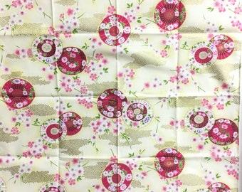 Furoshiki, FREE SHIPPING, japanese furoshiki, wrapping cloth, Japanese fabric, japanese tapestry, Wall Hanging, furoshiki gift, flower