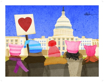 Women's March on Washington 11x14 Print