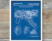 Patent Print, Ak-47 Bolt Locking Rifle, Patent Poster, Gun Gifts, Assault Rifle, Gun Art, Gun poster, Gun Print, Gun Decor, P433