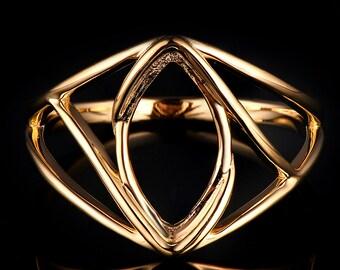 marquise ring 18K white/yellow gold ring  Platinum ring  CYR-10Y