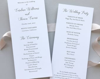 Wedding Programs / Elegant Calligraphy Suite / #1129