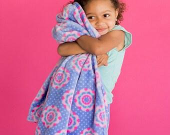 Zoey Monogrammed Throw Blanket, Toddler Girls Monogrammed Blanket, Personalized Throw Blanket, Monogrammed Kids Gift