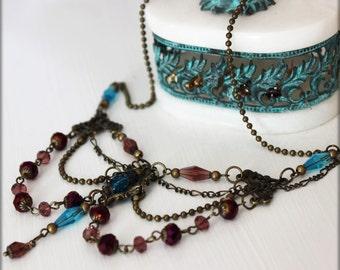 Somptueux collier Victorien , Vintage Antique Bronze Vintage Victorien Bridal Style
