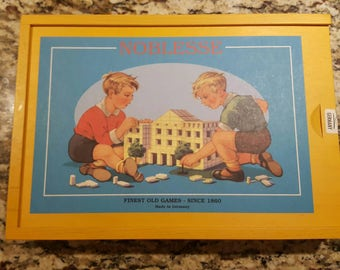 Noblesse Fine Wooden Block Game Made in Germany. Mint condition!