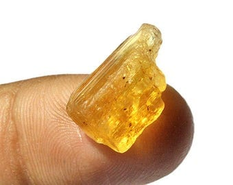 2gm Excellent Quality Brazilian Natural Imperial Gold Topaz Rough Gemstone, Jewelry Making Gemstone, Semi Preciouse, Tangerine Aura AG-4090