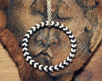 Heart pendant, sterling silver
