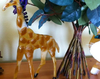 Giraffe- fused glass- standup- animals made to order- gifts- birthday gifts- glass statue